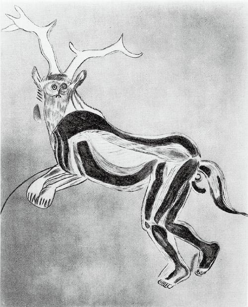 レ・トロワ=フレール洞窟(フランス・アリエー ジュ県)の《呪術師》