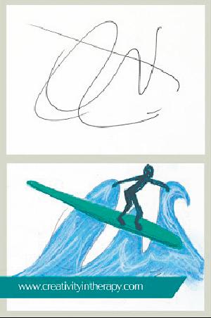 なぐり描き法の例