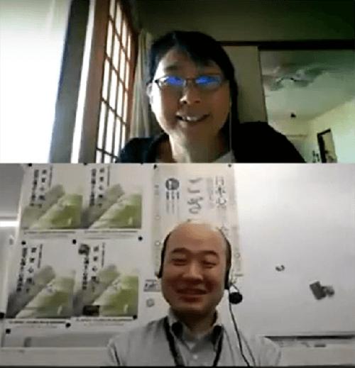 佐藤俊彦先生と大隅紀子氏(オンラインサポート)