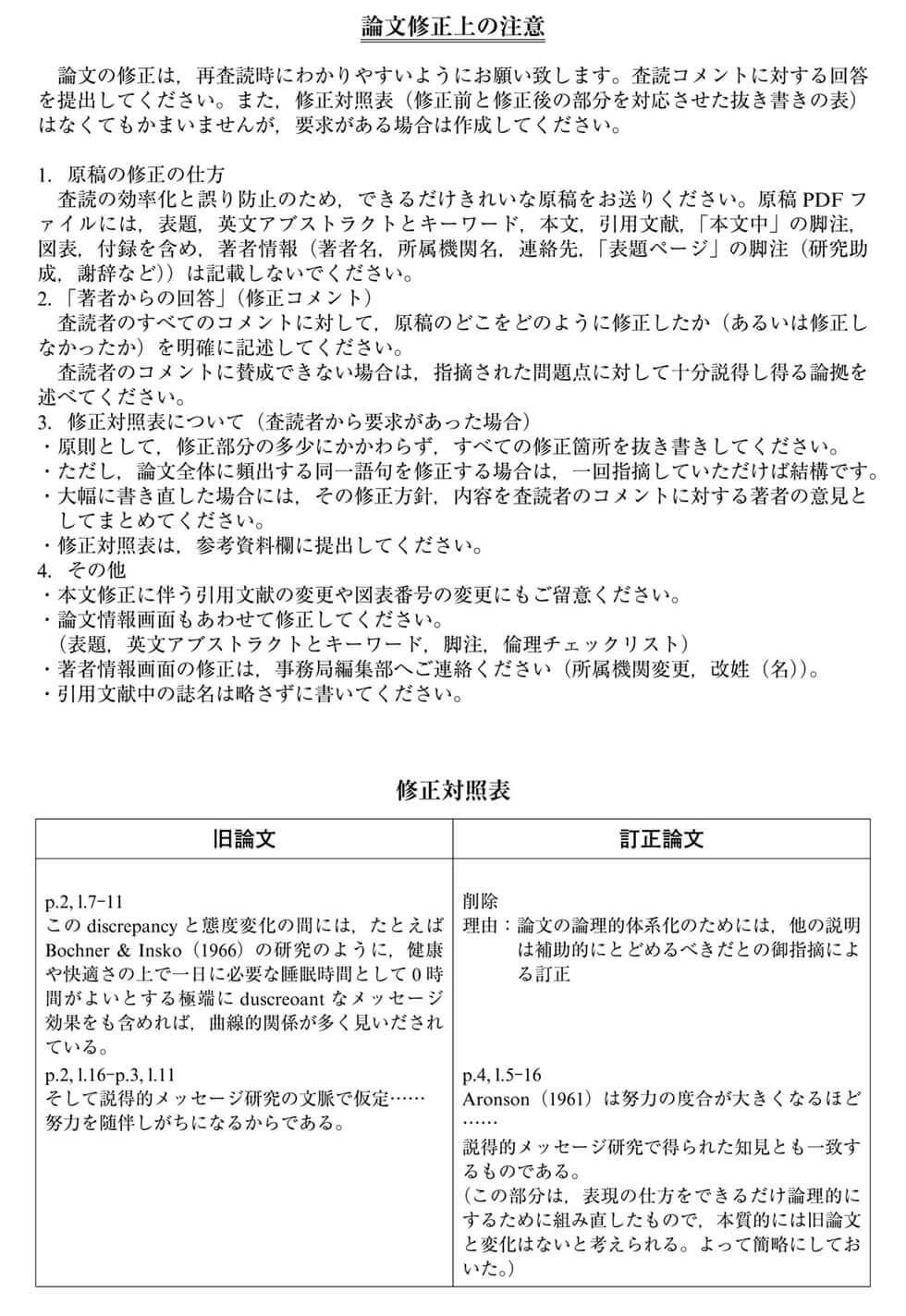見本2.5 「心理学研究」論文修正上の注意点