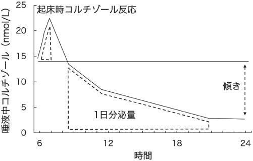 図2 日常的なストレスに関わるコルチゾール指標