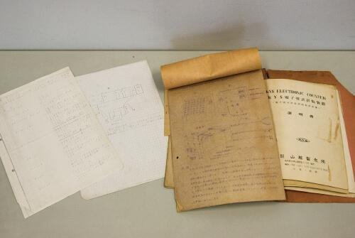 写真3 手書きの実験機器の操作説明書類