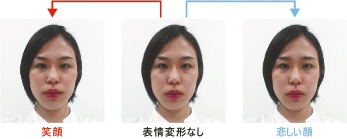 図2 画像処理による擬似的な表情の生成