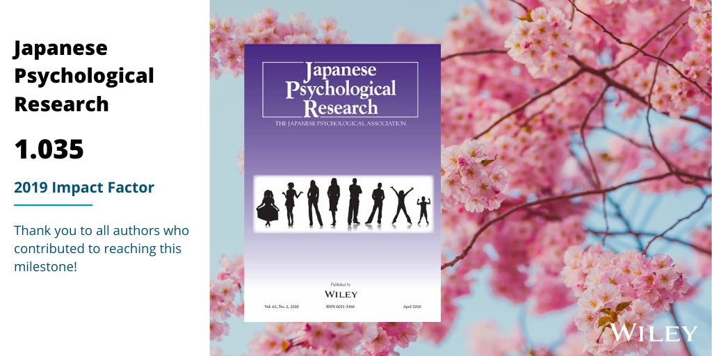 Japanese Psychological Research 2019IF