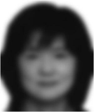 図1 赤ちゃんの視力で見た顔のシミュレーション